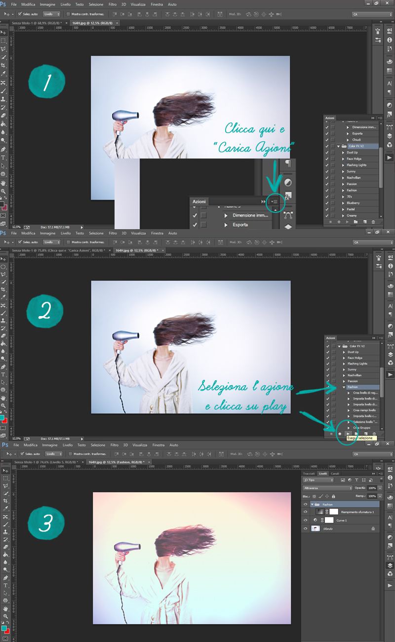 Come caricare azioni photoshop