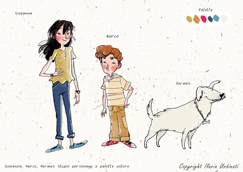 personaggi e palette colori di Ilaria Urbinati
