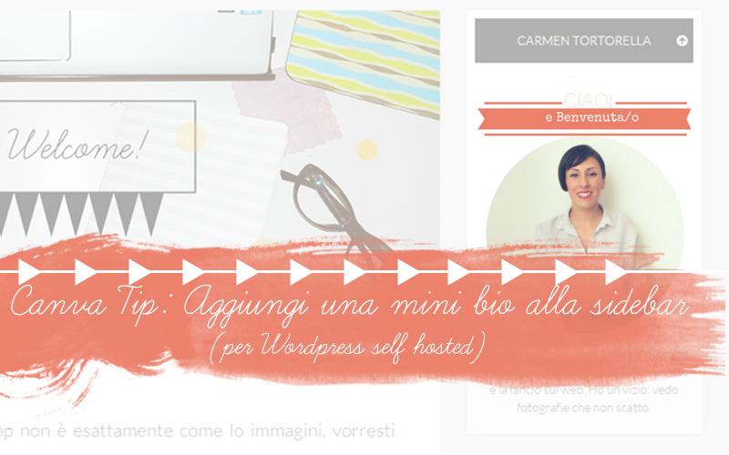Canva tip: aggiungi una mini bio alla sidebar del tuo WordPress