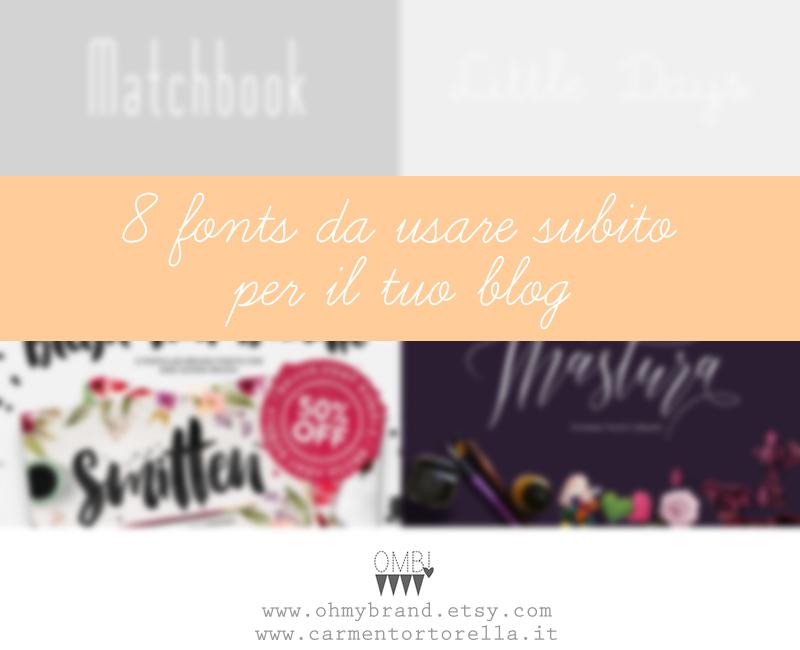 8 Fonts da usare subito per il tuo blog