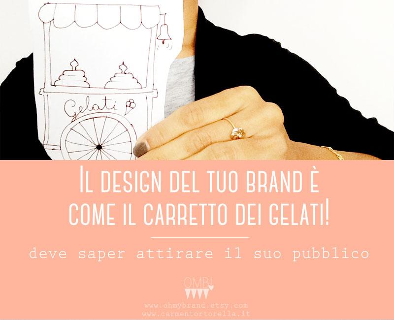 Il design del tuo brand è come il carretto dei gelati!