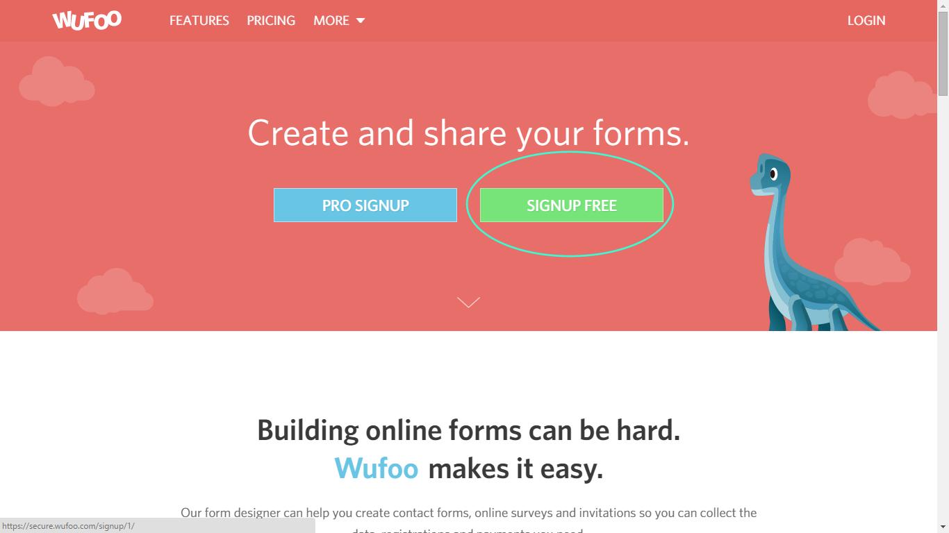 sito di Wufoo