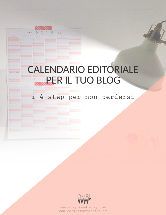 Calendario editoriale per il tuo blog – i 4 step per non perdersi