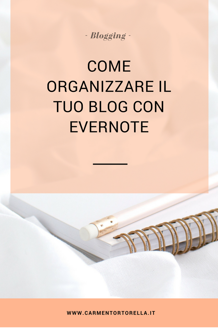 Evernote calendario editoriale