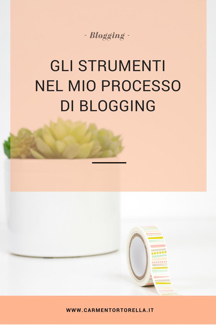 Gli Strumenti nel mio processo di blogging
