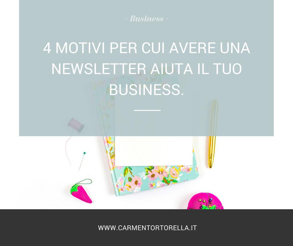 4 motivi per cui avere una newsletter aiuta il tuo business